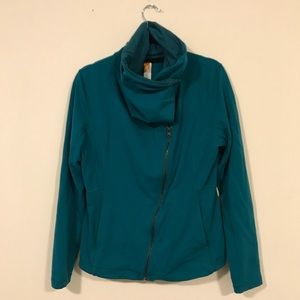 Lucy asymmetrical zip with cowl collar jacket